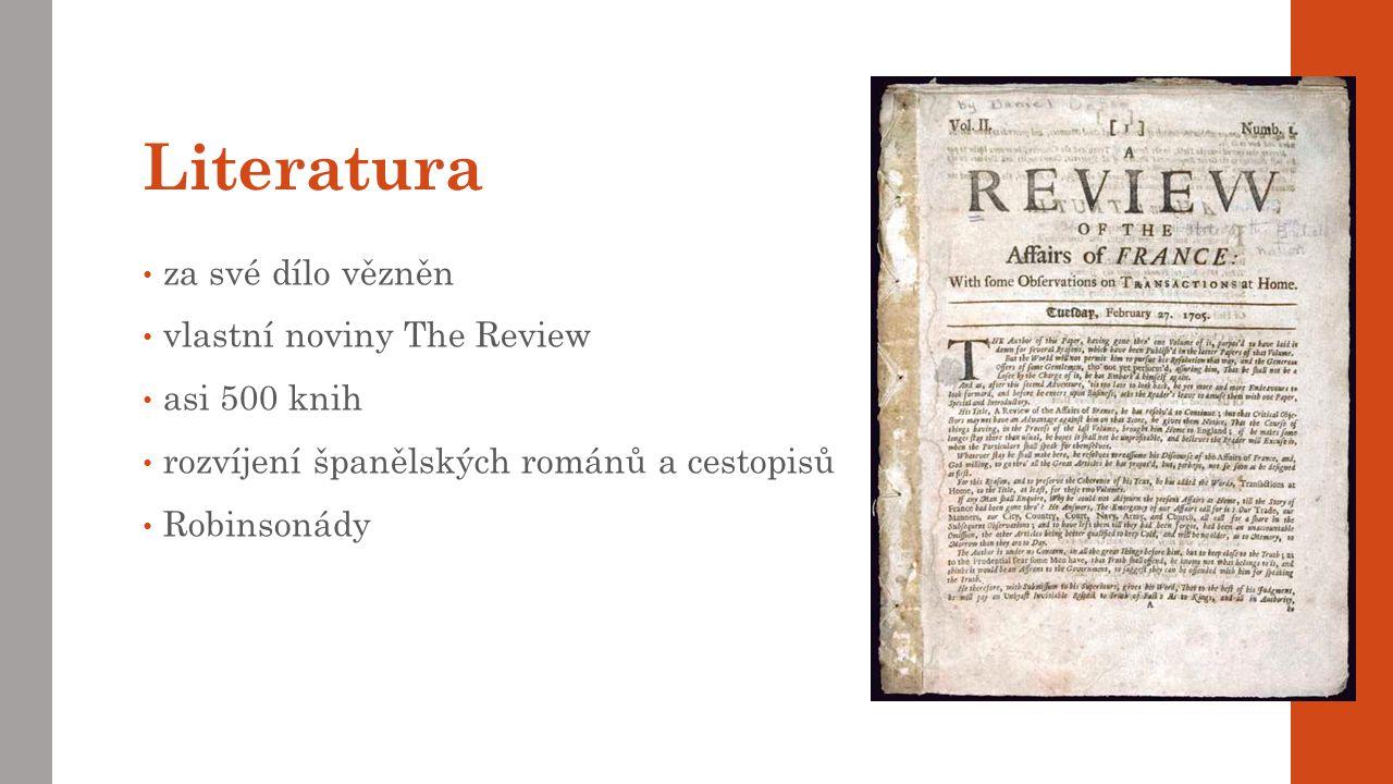 Literatura za své dílo vězněn vlastní noviny The Review asi 500 knih
