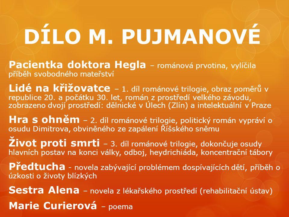 DÍLO M. PUJMANOVÉ