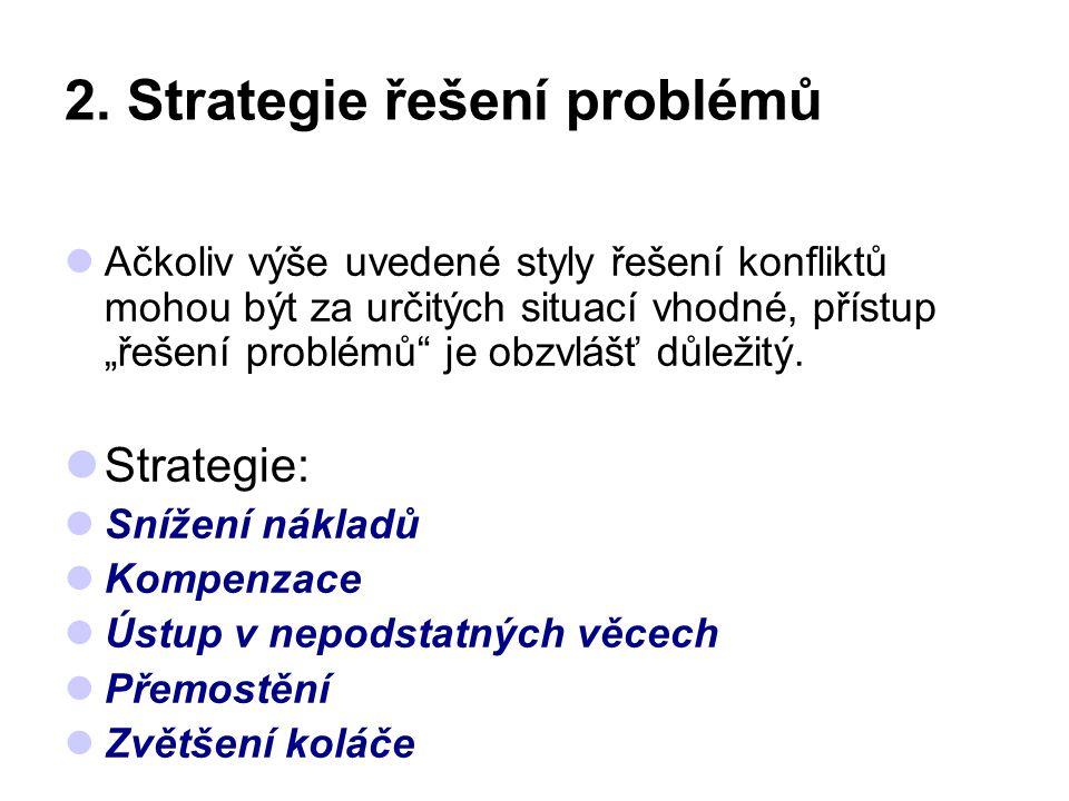 2. Strategie řešení problémů