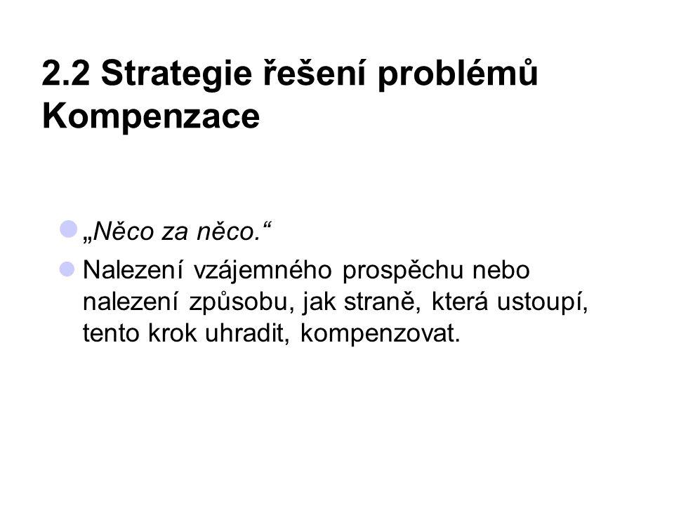 2.2 Strategie řešení problémů Kompenzace