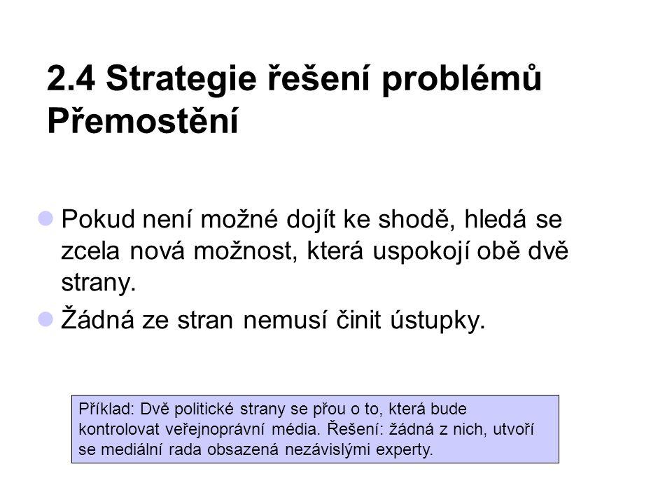 2.4 Strategie řešení problémů Přemostění