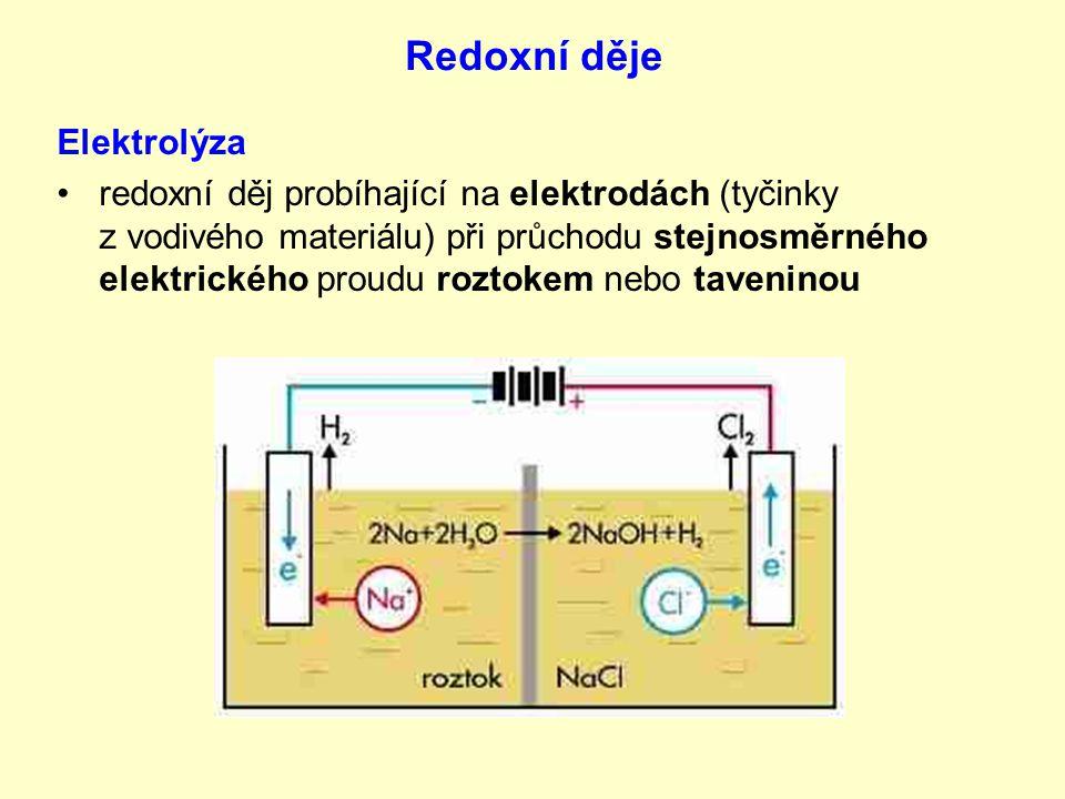 Redoxní děje Elektrolýza