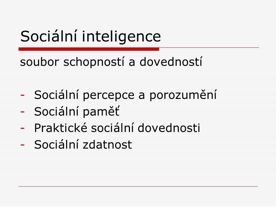 Sociální inteligence soubor schopností a dovedností