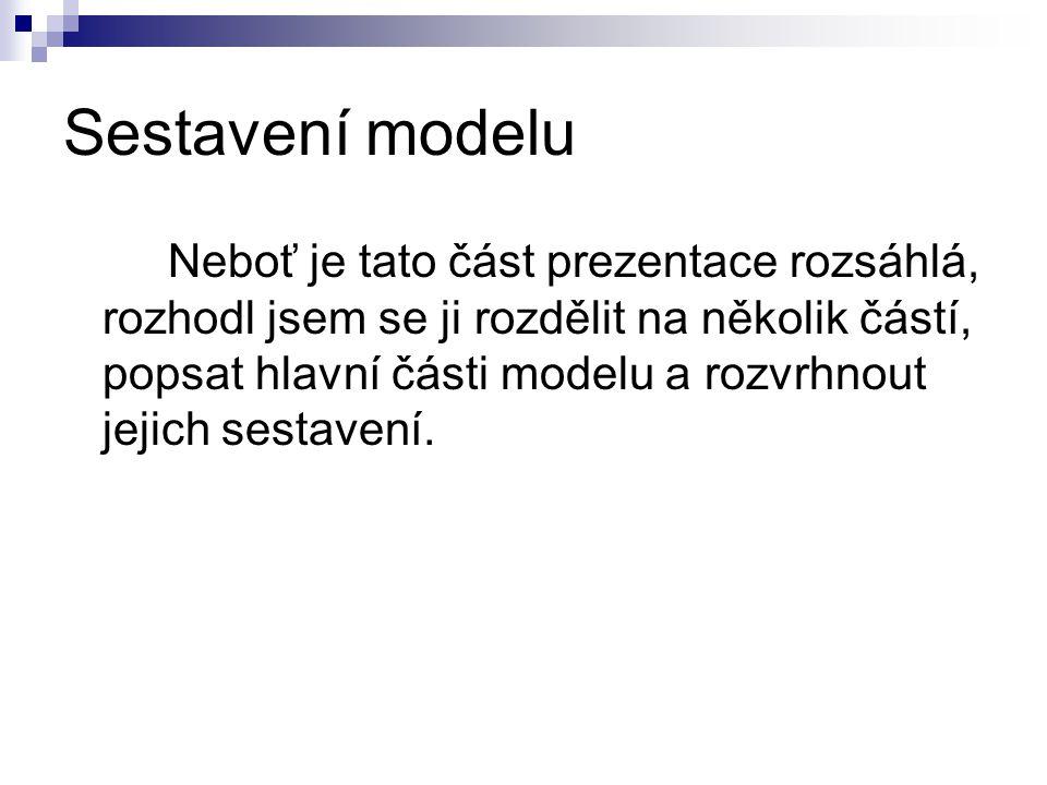Sestavení modelu
