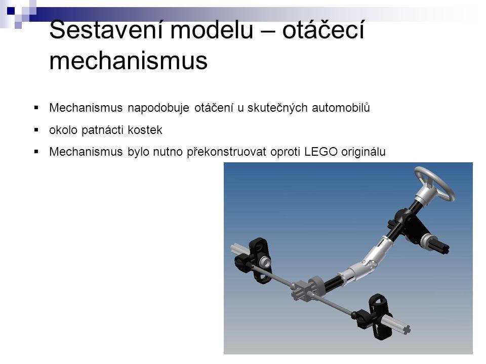 Sestavení modelu – otáčecí mechanismus