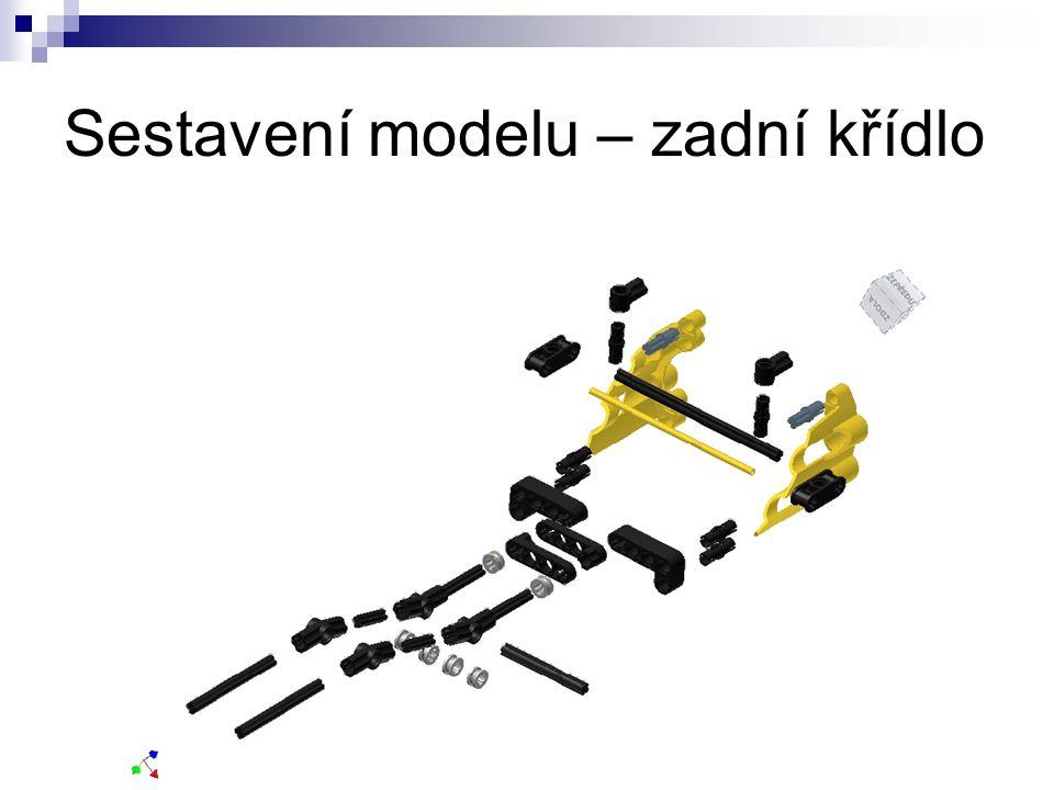 Sestavení modelu – zadní křídlo