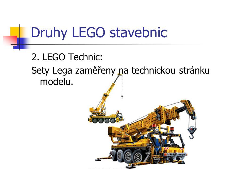 Druhy LEGO stavebnic 2. LEGO Technic: