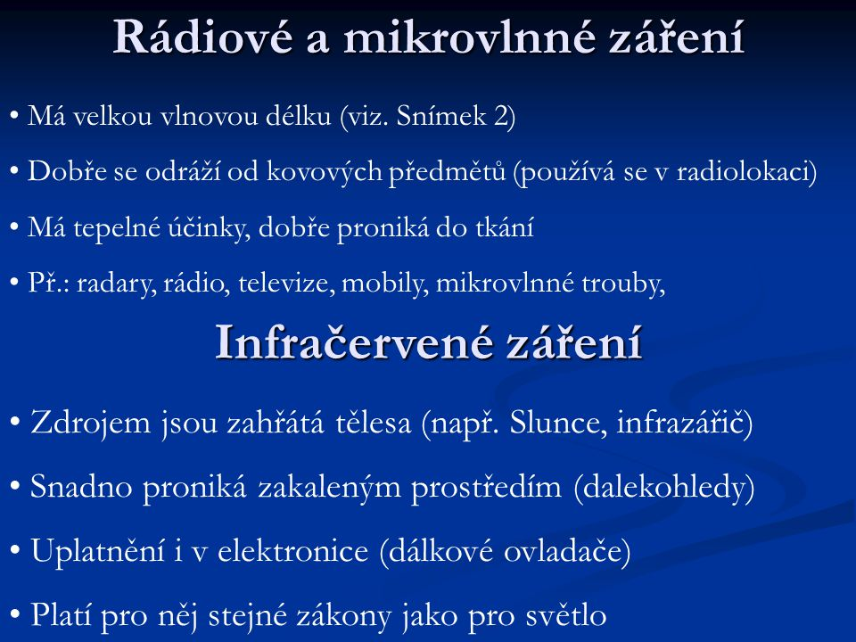 Rádiové a mikrovlnné záření