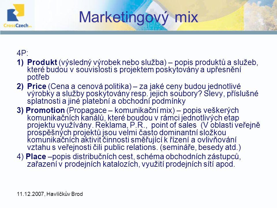 Marketingový mix 4P: