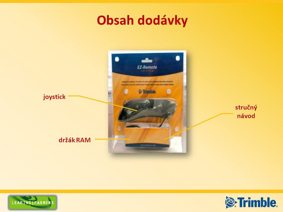Obsah dodávky joystick stručný návod držák RAM