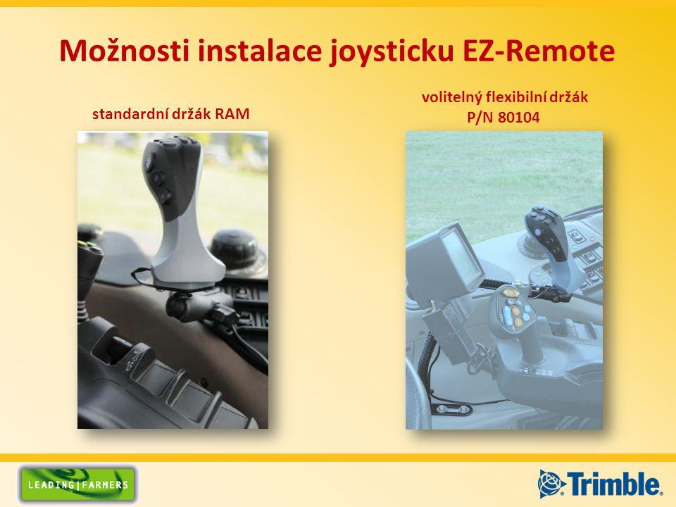 Možnosti instalace joysticku EZ-Remote