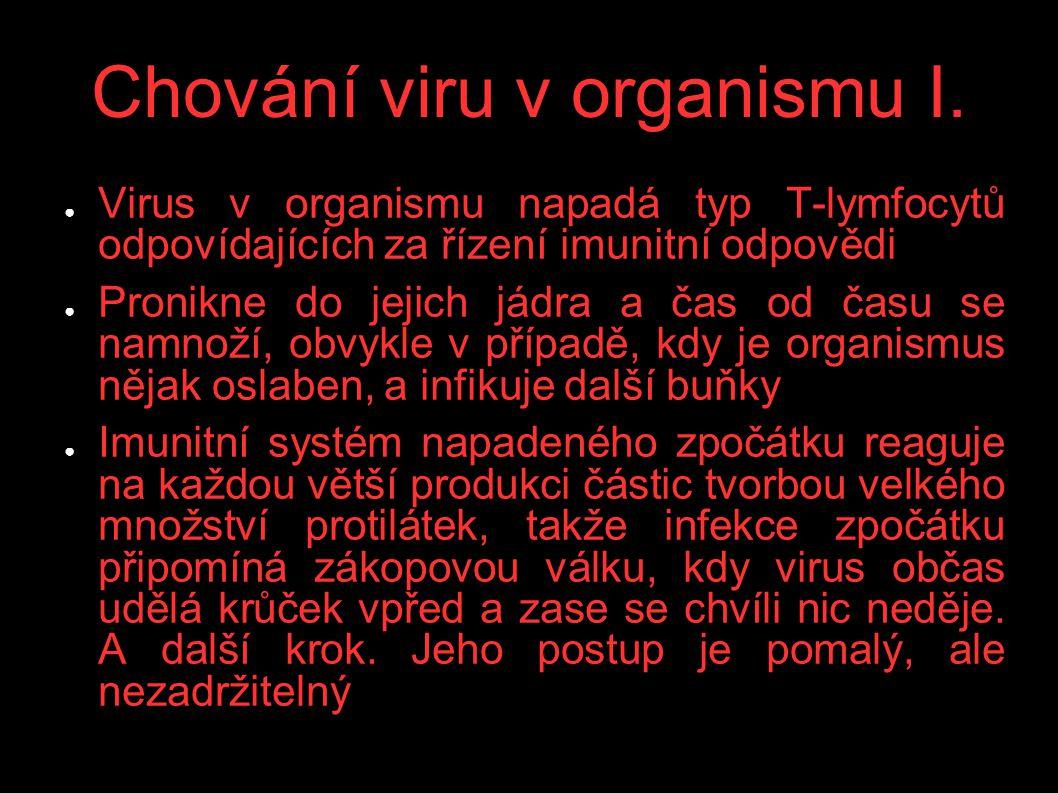 Chování viru v organismu I.
