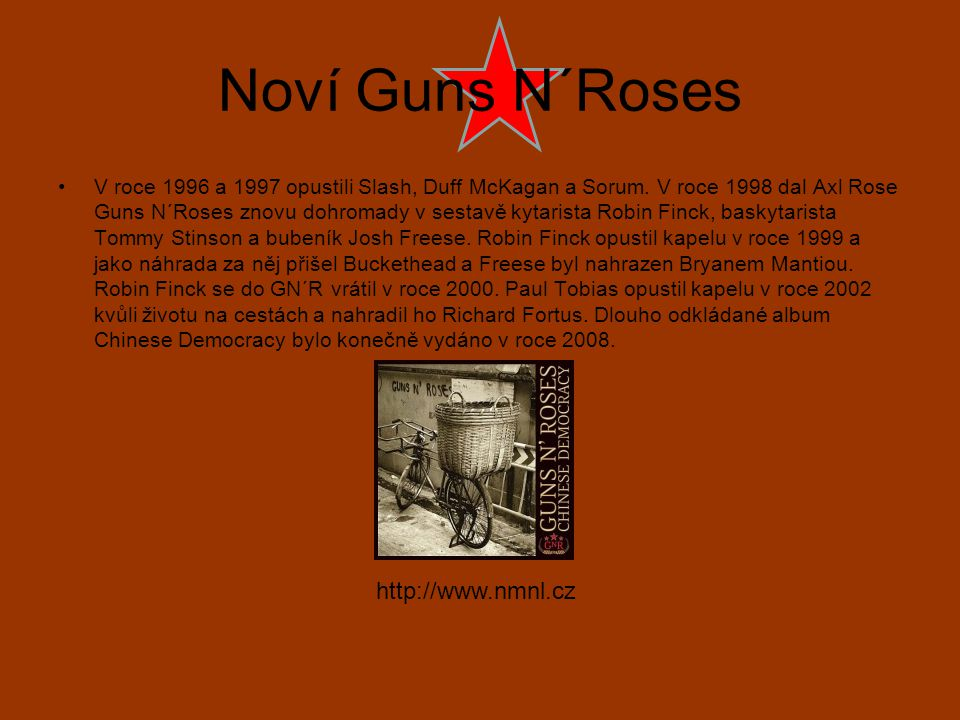 Noví Guns N´Roses http://www.nmnl.cz