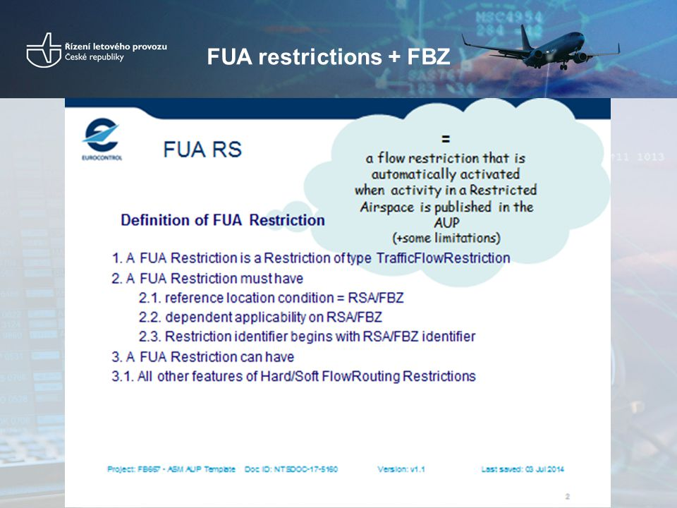 FUA restrictions + FBZ