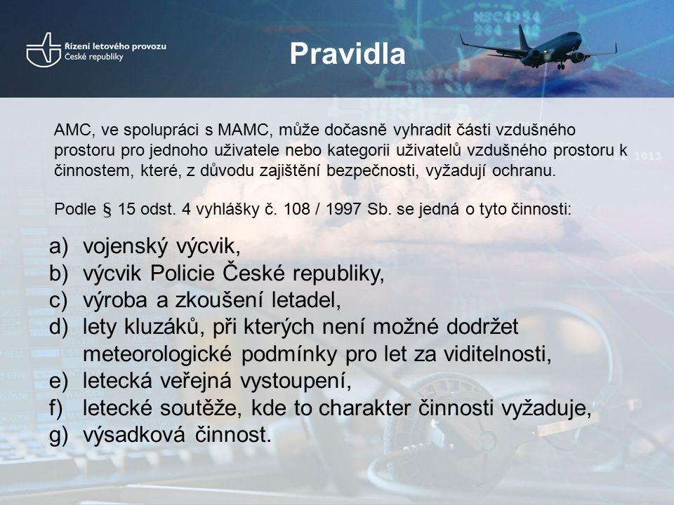 Pravidla vojenský výcvik, výcvik Policie České republiky,