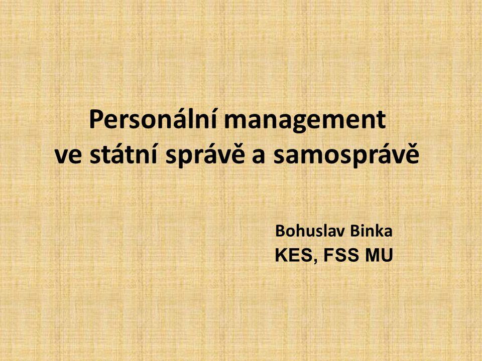 Personální management ve státní správě a samosprávě