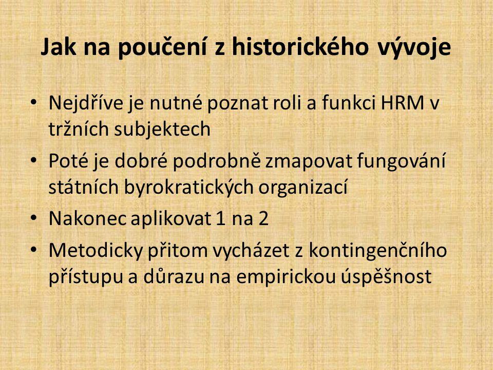 Jak na poučení z historického vývoje
