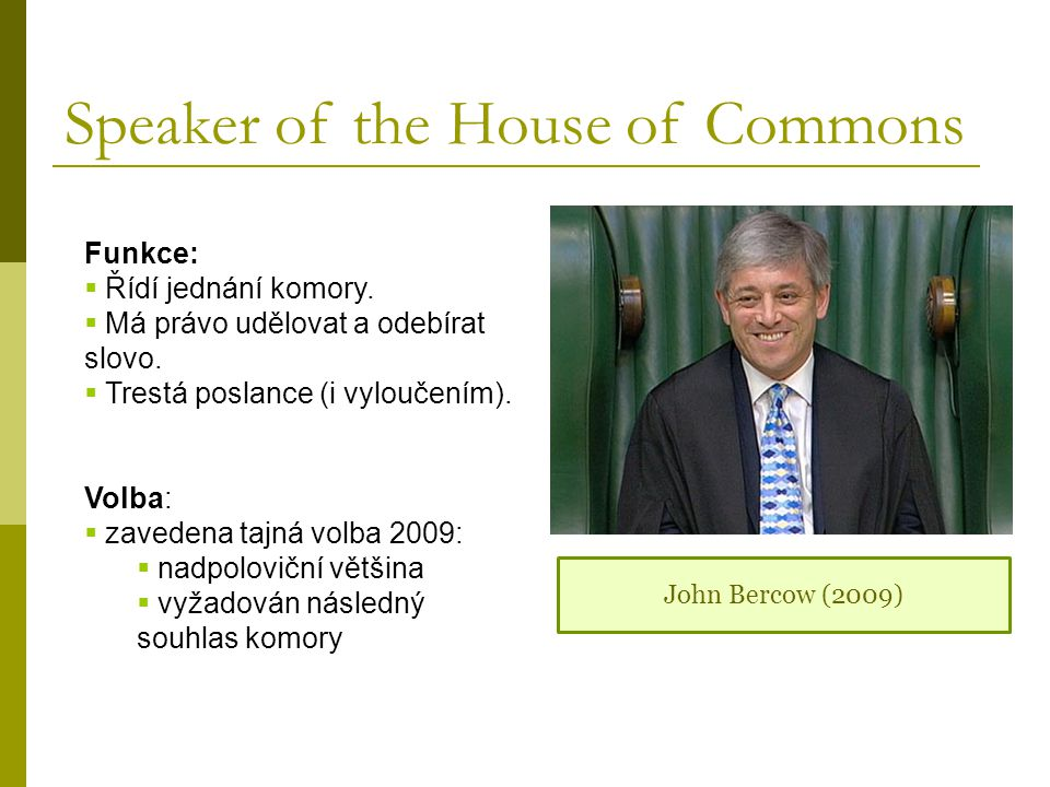 Speaker of the House of Commons