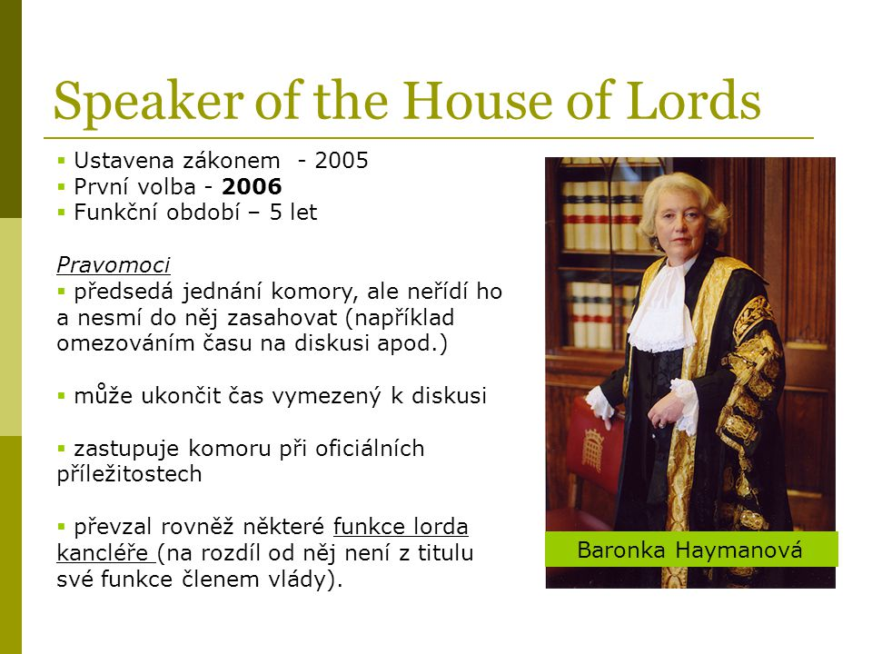 Speaker of the House of Lords