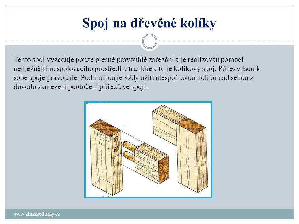 Spoj na dřevěné kolíky