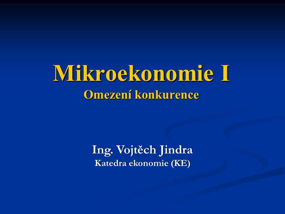 Mikroekonomie I Omezení konkurence