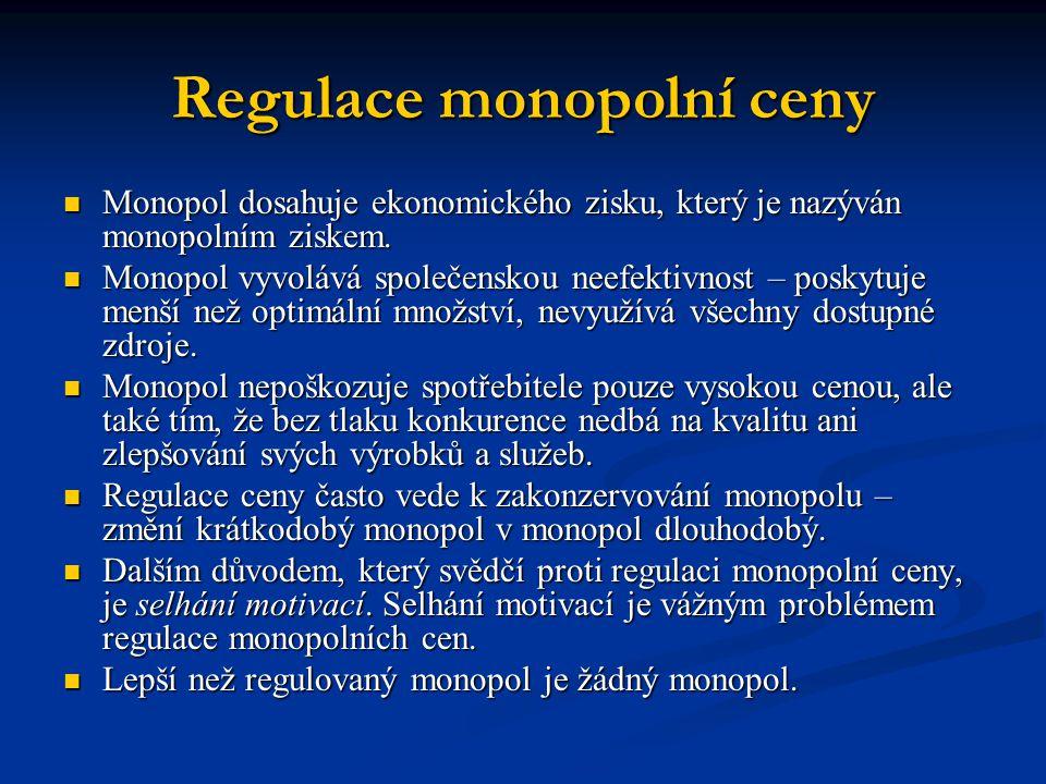 Regulace monopolní ceny