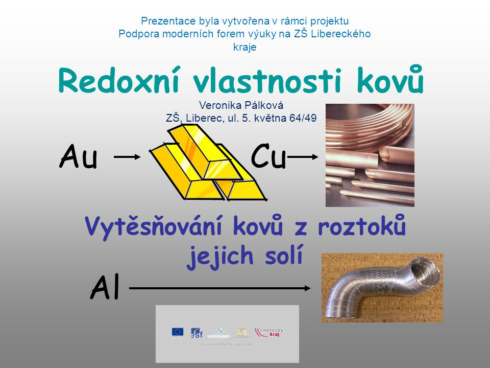 Redoxní vlastnosti kovů