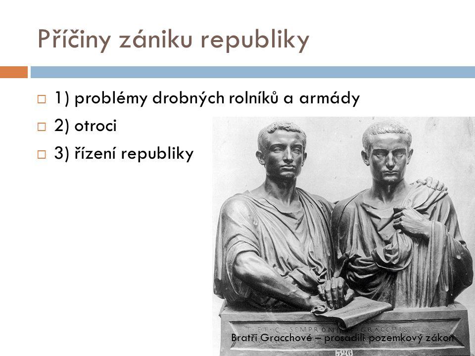 Příčiny zániku republiky