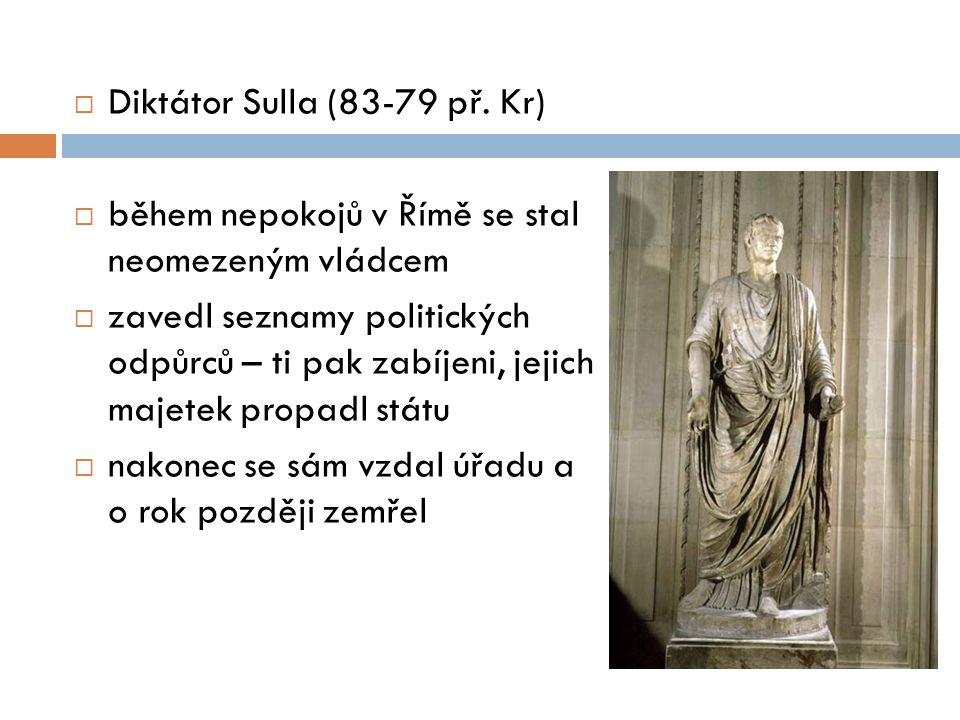 Diktátor Sulla (83-79 př. Kr)