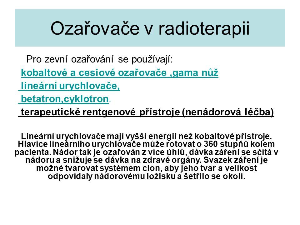 Ozařovače v radioterapii
