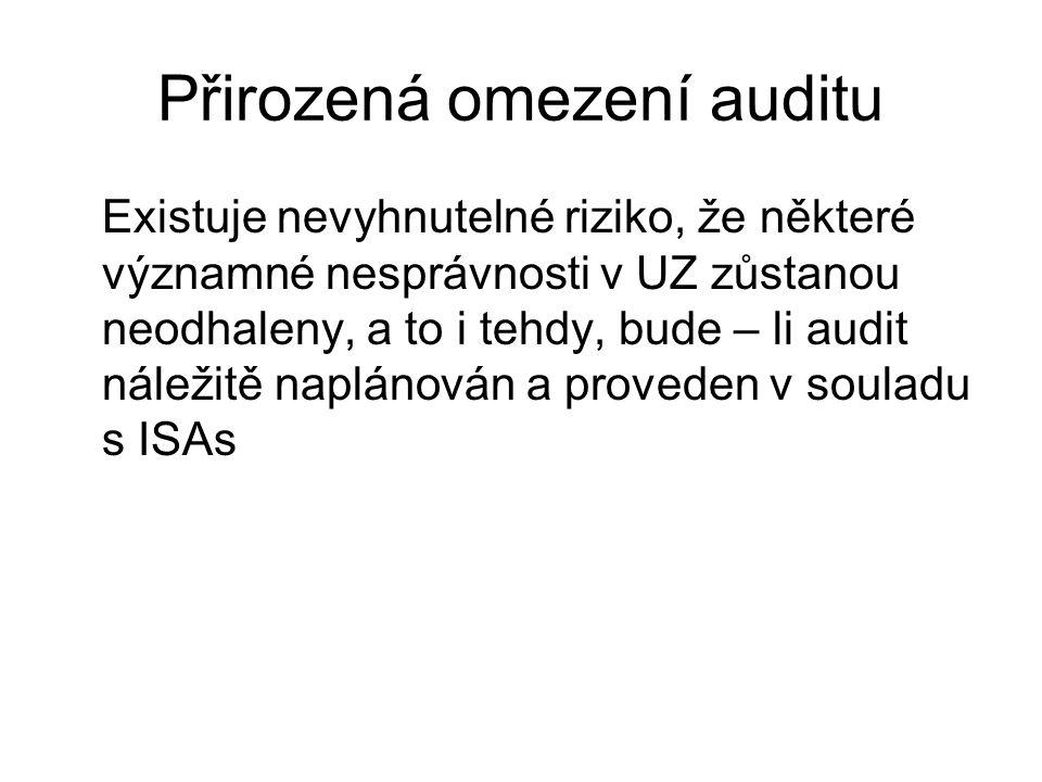 Přirozená omezení auditu