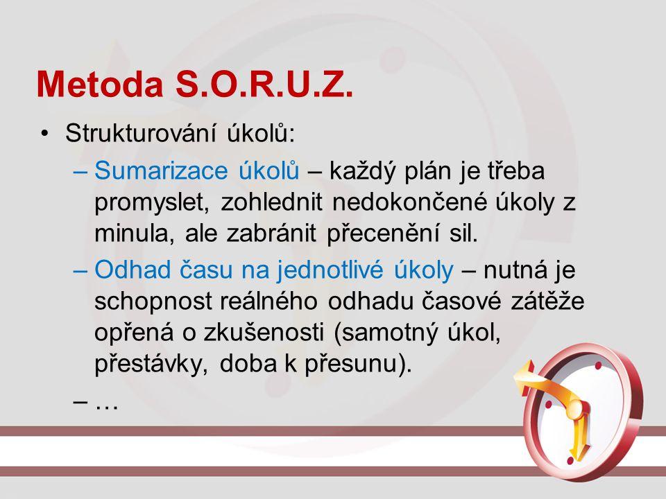 Metoda S.O.R.U.Z. Strukturování úkolů: