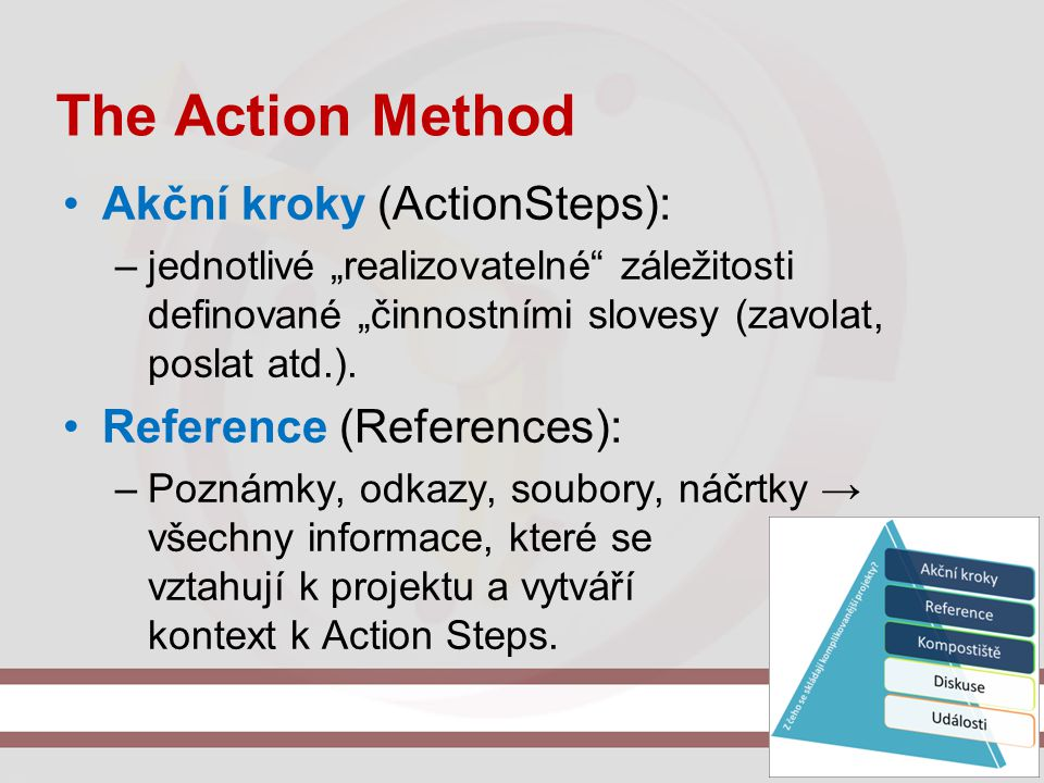 The Action Method Akční kroky (ActionSteps): Reference (References):