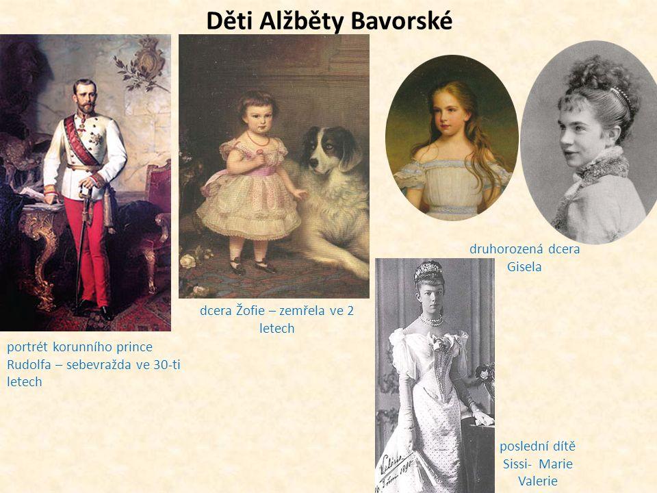 Děti Alžběty Bavorské druhorozená dcera Gisela