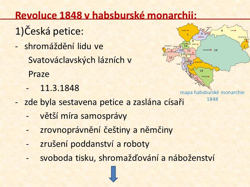 mapa habsburské monarchie 1848