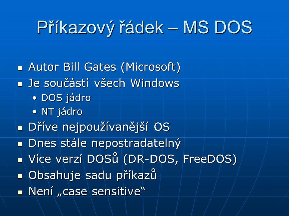 Příkazový řádek – MS DOS