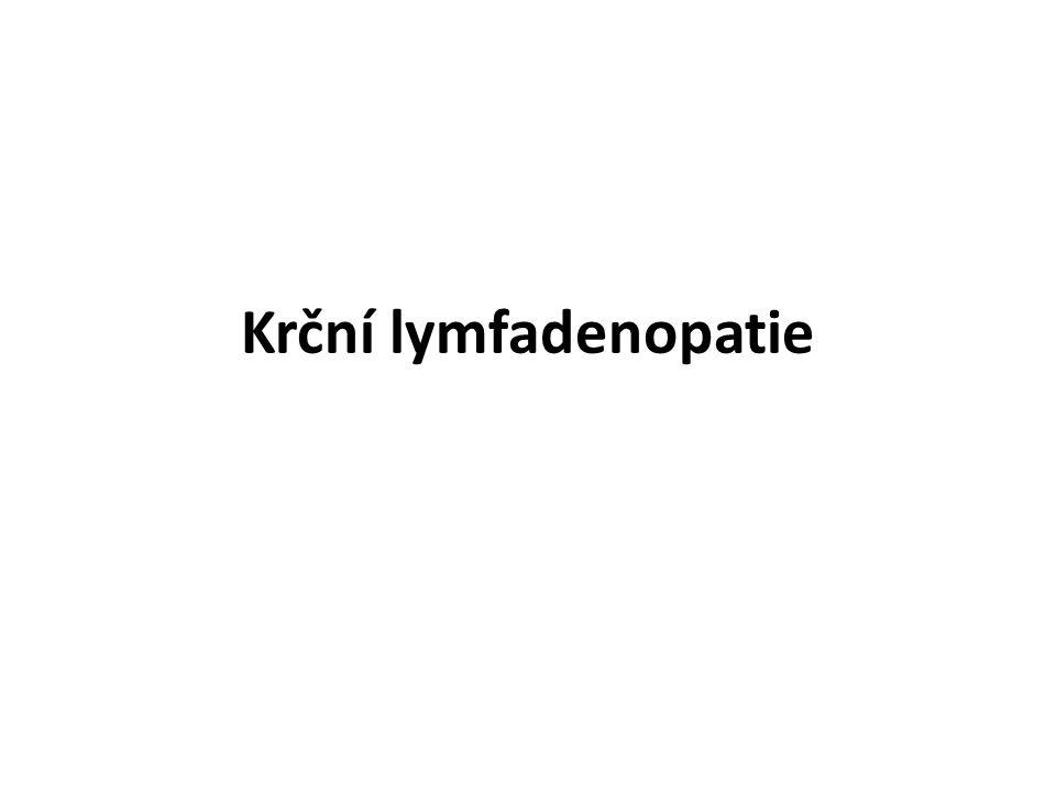 Krční lymfadenopatie