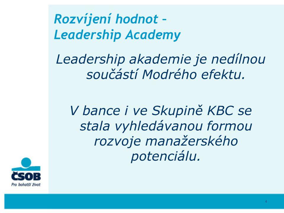 Rozvíjení hodnot – Leadership Academy