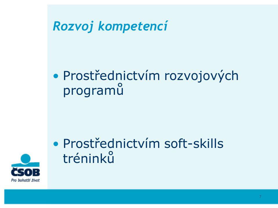 Rozvoj kompetencí Prostřednictvím rozvojových programů