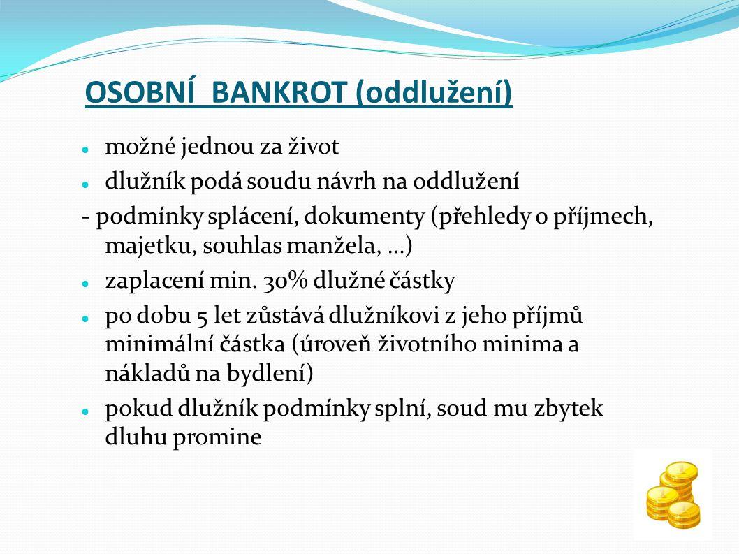 OSOBNÍ BANKROT (oddlužení)
