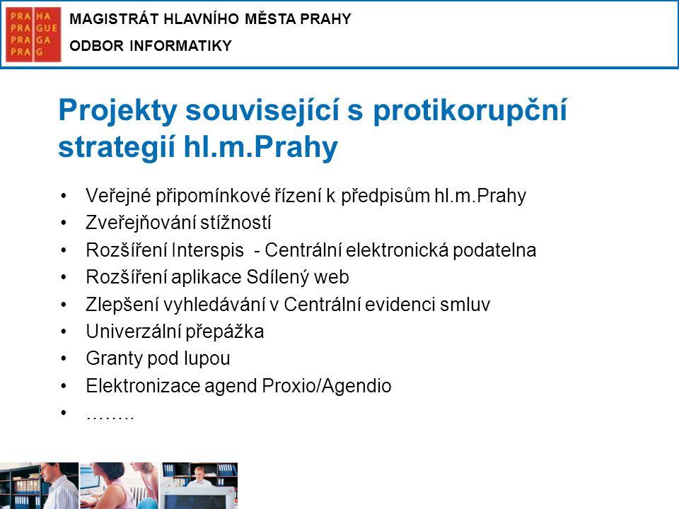 Projekty související s protikorupční strategií hl.m.Prahy