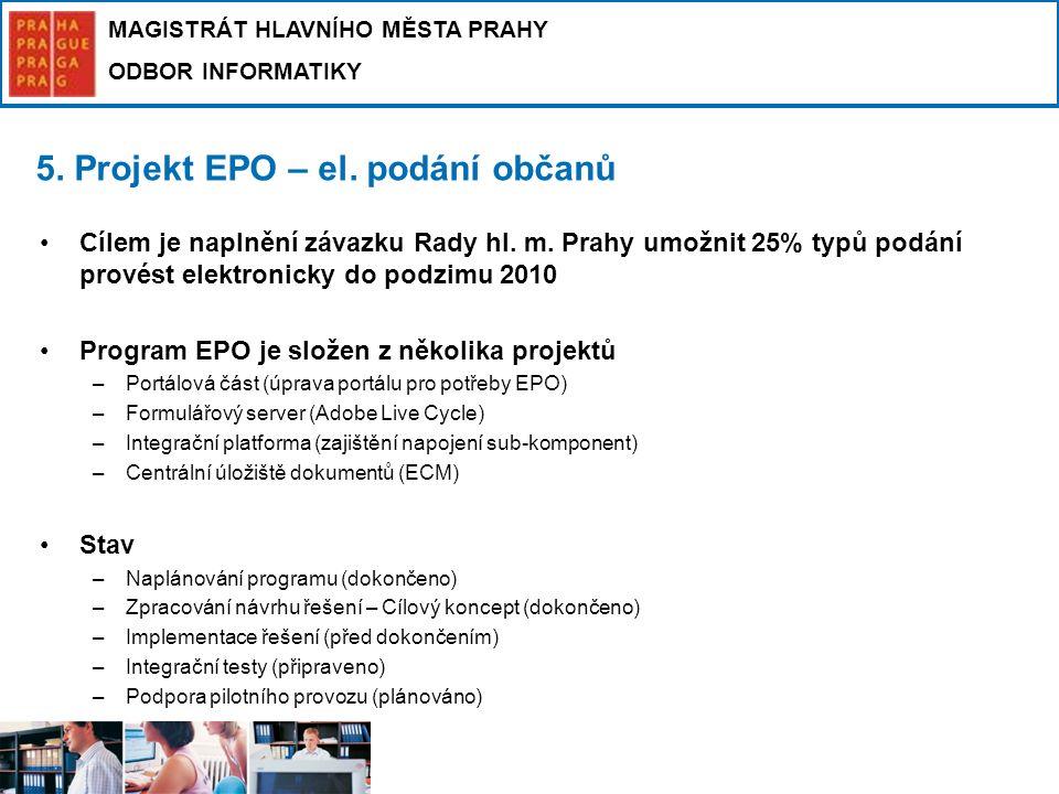5. Projekt EPO – el. podání občanů