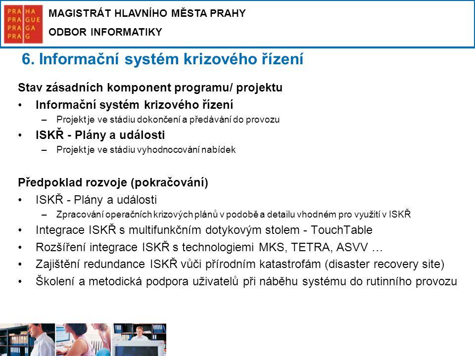 6. Informační systém krizového řízení