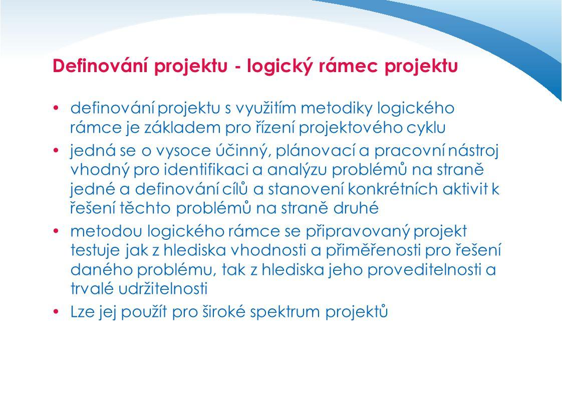 Definování projektu - logický rámec projektu