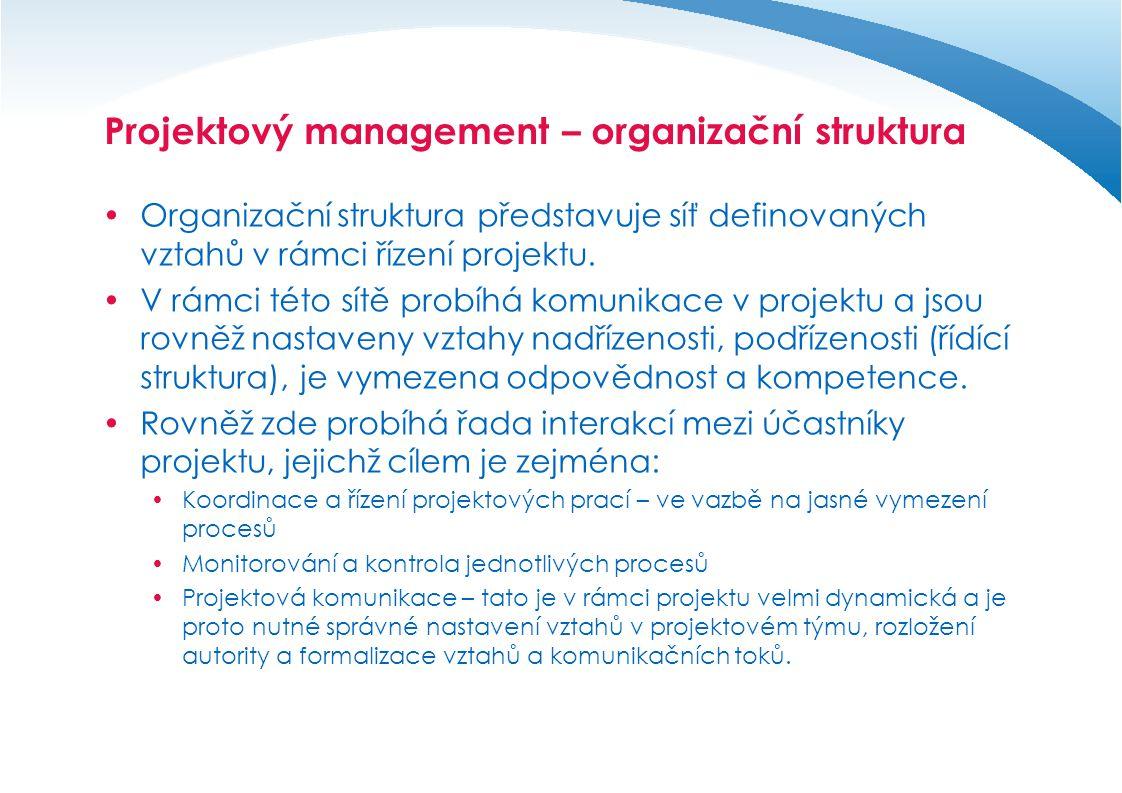 Projektový management – organizační struktura