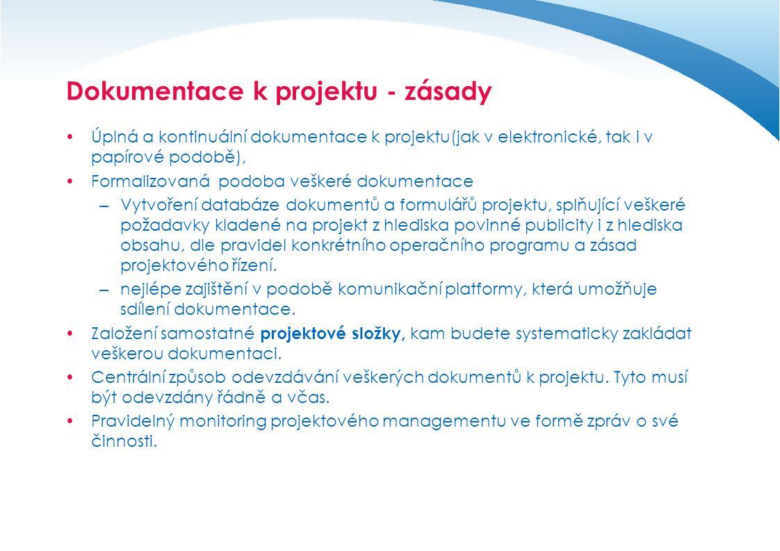 Dokumentace k projektu - zásady