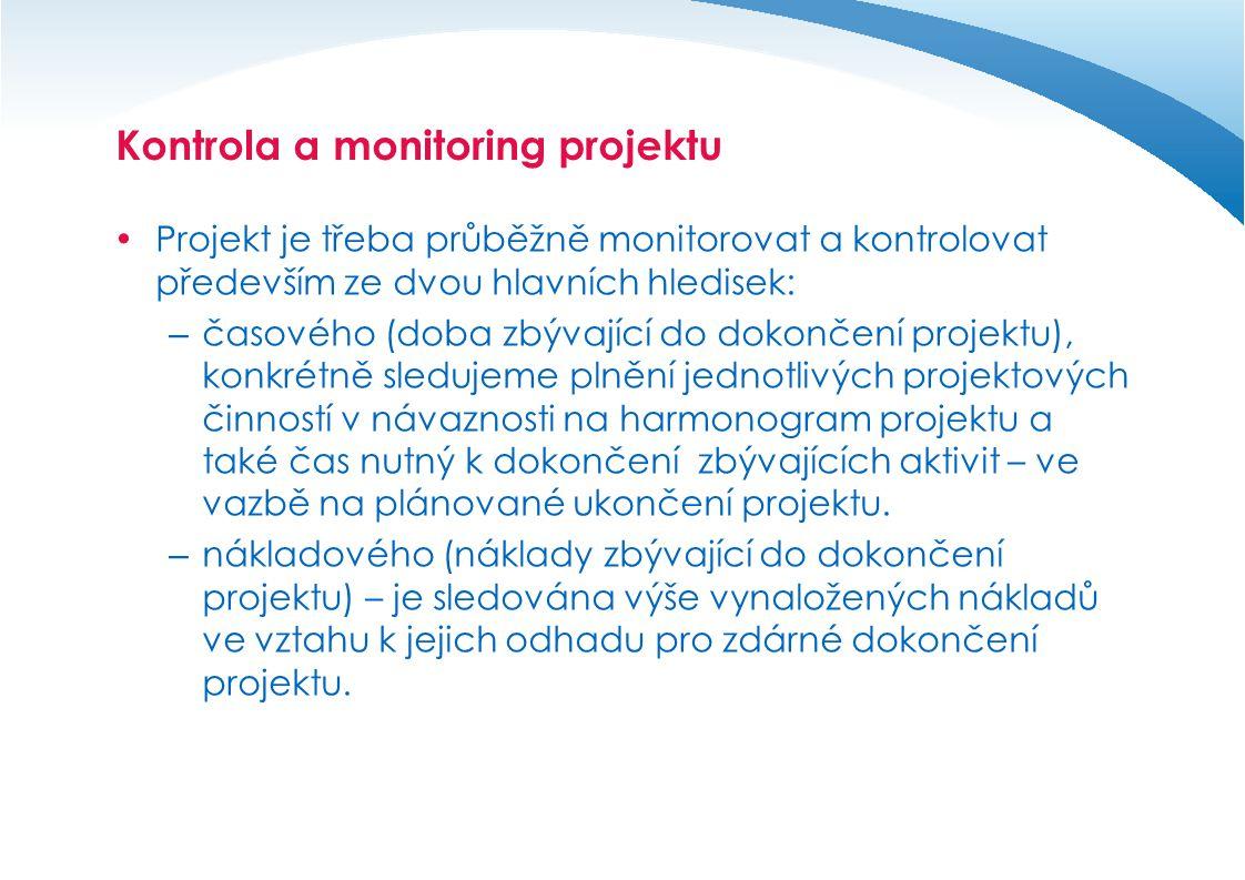 Kontrola a monitoring projektu