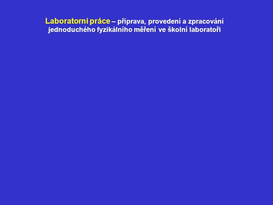Laboratorní práce – příprava, provedení a zpracování jednoduchého fyzikálního měření ve školní laboratoři