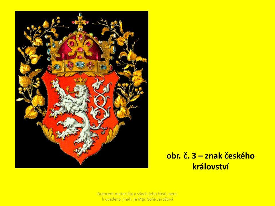 obr. č. 3 – znak českého království