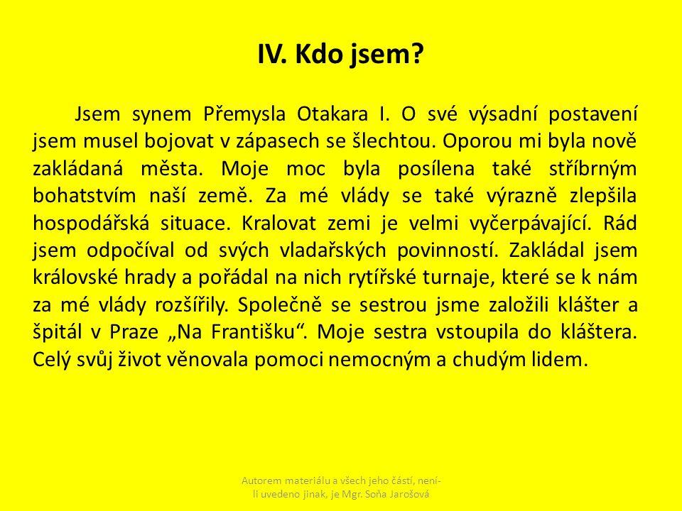 IV. Kdo jsem